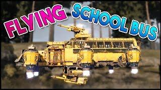 Crossout - FLYING MAGIC SCHOOL BUS & NEW MAP BROKEN ARROW - Crossout Gameplay