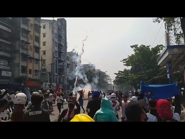緬甸軍警開槍鎮壓反政變示威 至少18死