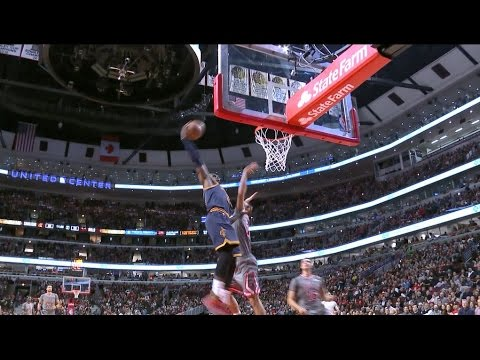 LeBron Throws the Hammer Down Off Outlet Pass   March 30, 2017