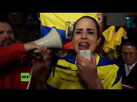 Manifestantes piden a Moreno que retire la ciudadanía ecuatoriana a Julian Assange