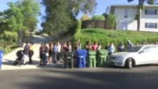 Fans flock to Chris Brown s house for yard sale