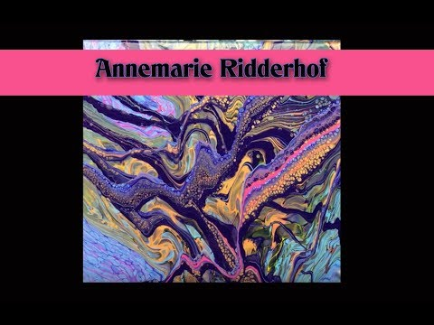 ( 687 ) Acrylic pouring purple pink