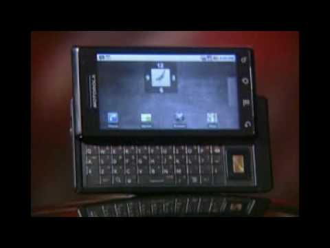 MOTOROLA DROID A855 MILESTONE UNLOCKED GSM CELL PHONE PREVIEW ADVERTISEMENT COMMERCIAL DEMO