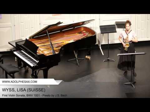 Dinant 2014 - WYSS Lisa (First Violin Sonata, BWV 1001 - Presto by J.S. Bach)