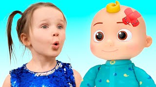 Five Kids Baby Doll Cocomelon Song + more Children's Songs and Videos