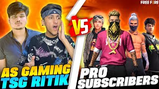 As Gaming Playing With TSG Ritik Clash Squad Match With Subscribers Epic Battle In Garena Free Fire