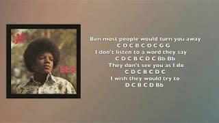 Ben [Michael Jackson] Flute Cover/Notes & Lyrics