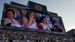 Auburn's tribute to Rod and Paula Bramblett before Tulane game