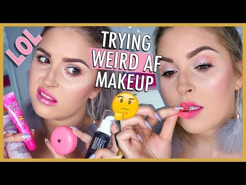 """Trying WEIRD Gimmicky & VIRAL Makeup ? WTF ? IS IT GOOD"""""""