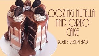 Oozing Nutella and Oreo Mud Cake- Rosie's Dessert Spot