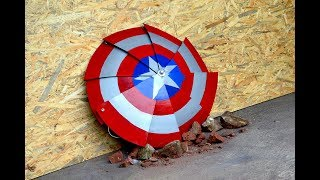 Homemade Heavy Duty FOLDING Captain America SHIELD !!!