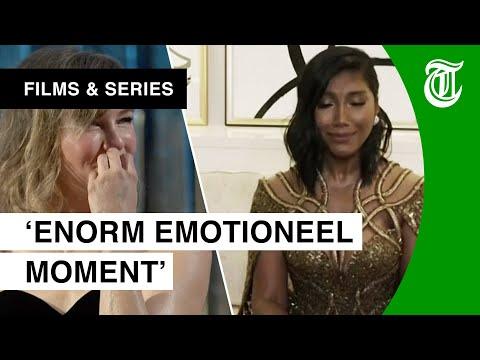 Hartverscheurend: Weduwe in tranen bij Golden Globes