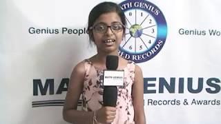 Pi World Record Holder @ Nayana Reddy Thipparthi
