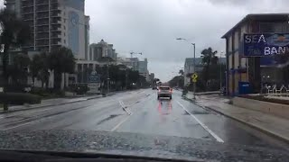 Take a drive down Ocean Blvd. in Myrtle Beach as Hurricane Florence nears