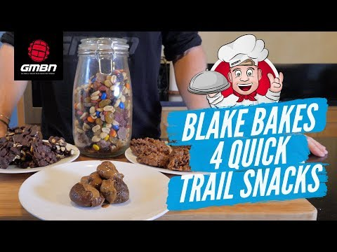 How To Make 4 Simple and Quick Trail Snacks | Blake Bakes