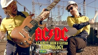 AC/DC: A 5 Minute Drum & Guitar Chronology - Kye Smith & Lindsay McDougall [4K]