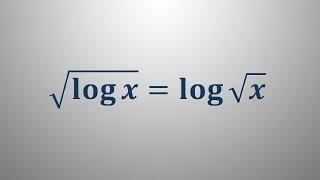 Logaritemska enačba 16