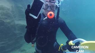 Underwater Metal Detecting a WATERFALL, Found a Phone (Returned!) Using Dive Portable Lungs!