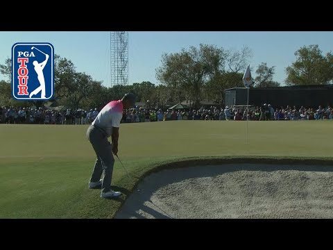 Tiger Woods? improbable bunker shot leads to par save at Arnold Palmer