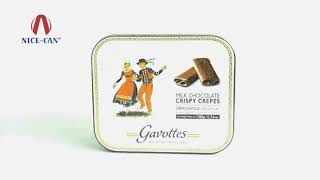 Nice-Can Custom Chocolate Tin Cookie Tin Box NC2908