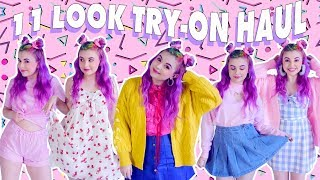 MASSIVE TRY-ON HAUL ♡ 11 KAWAII OUTFITS!