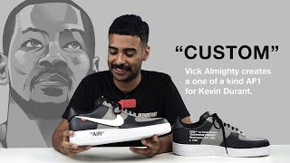Vick Almighty Custom Air Force One for Kevin Durant! (Off-White) With Reshoevn8r