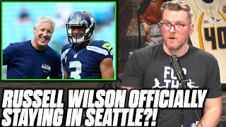 Pat McAfee Reacts To Report Russell Wilson Is Staying With The Seahawks