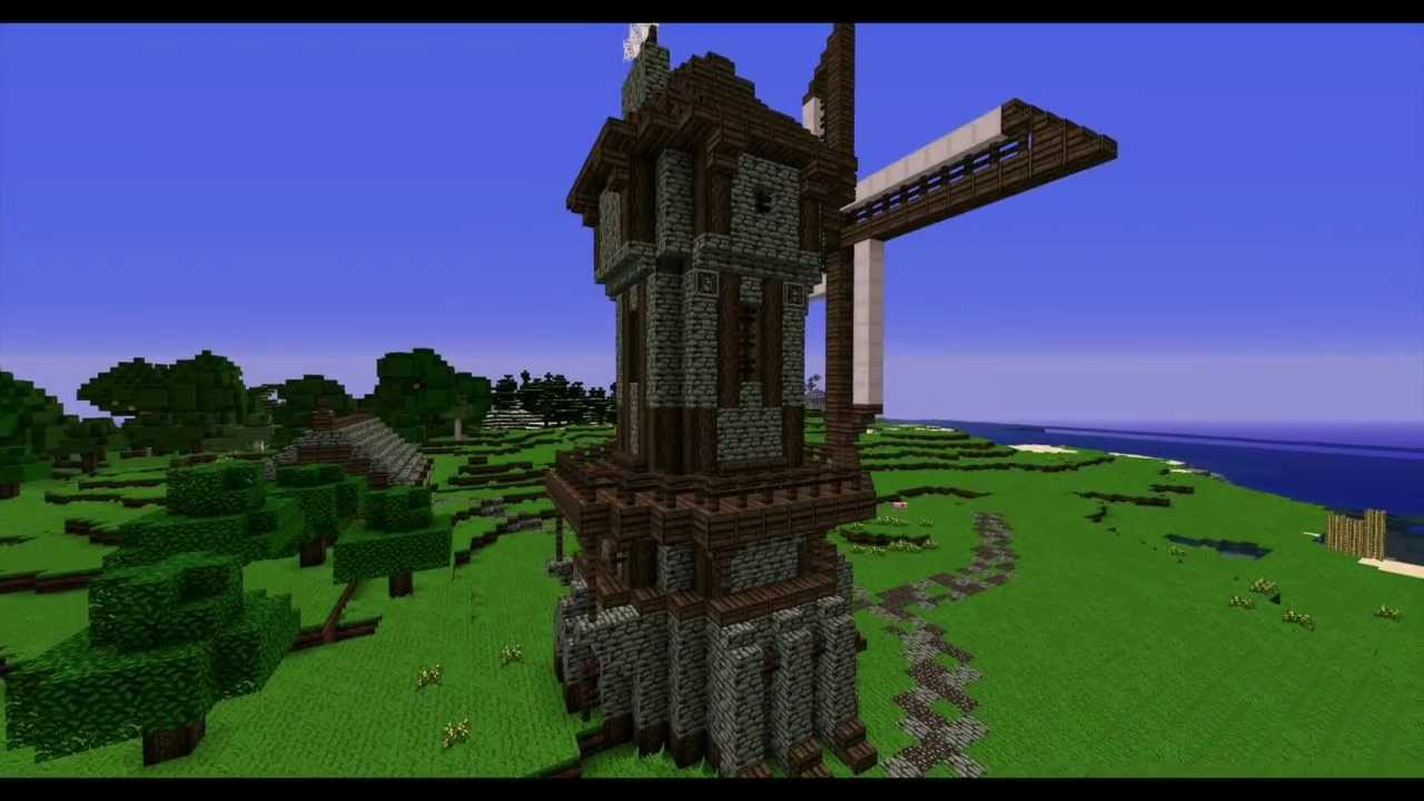 Minecraft Lonely Medieval Windmill Timelapse : NPG - YouTube