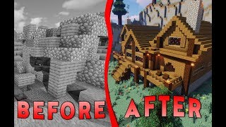 Surprising a Noob With A Brand New Cabin | Flippers E6 | Minecraft
