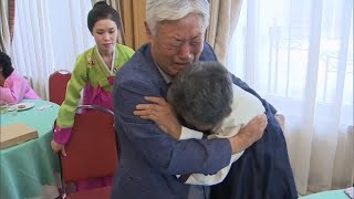 Families divided by war in North and South Korea reunite