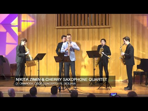 Nikita Zimin & Cherry Saxophone Quartet - D. Cimarosa: Oboe Concerto - III. Siciliana