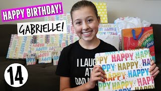 Gabrielle's 14th Birthday Opening Presents!