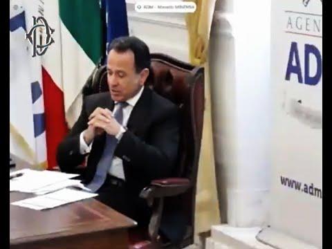 Audizione del Direttore generale di AdM, Marcello Minenna, in Commissione Antimafia 9 marzo 2021
