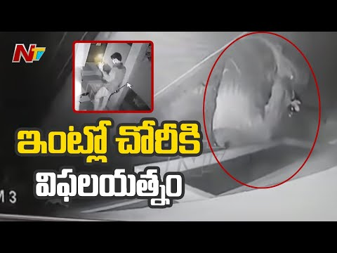 CCTV : A thief's unsuccessful attempt at doctor's residence in Eluru
