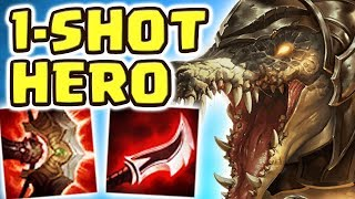 MAX LETHALITY ONE W 1-SHOT JUNGLE RENEKTON (ASSASSIN BUILD) THIS IS NOT OKAY !! I'LL BE YOUR HERO