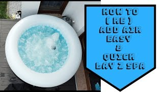 How to ( re ) add Air into the Jacuzzi LAY z SPA Miami HOT TUB