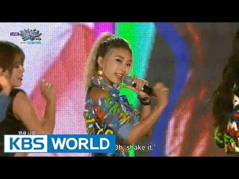 SISTAR (씨스타) - SHAKE IT / Touch My Body [Music Bank HOT Stage / 2015.10.09]