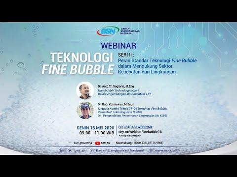 https://youtu.be/TsqT3yuaGkETeknologi Fine Bubble 2: Peran Standar Teknologi Fine Bubble dalam Sektor Kesehatan & Lingkungan