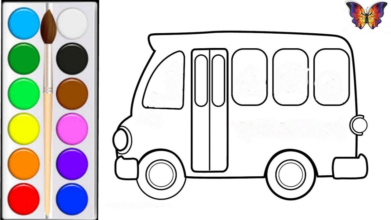 как нарисовать автобус мультик раскраска автобус для детей раскраски малышам