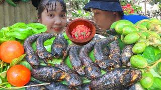 Cá Lóc, Cá Rô Đồng Nướng Rơm Ngoài Bờ Mương | Huỳnh Nhu Vlogs