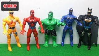 5 Anh em siêu nhân người nhện khổng lồ xanh spiderman kết hợp   bootleg power rangers toy for
