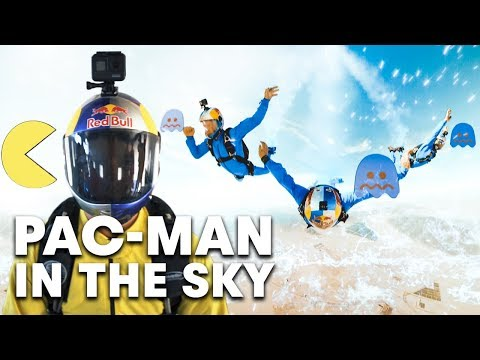 Linking nostalgia with skydiving, the Red Bull Air Force play the first-ever real-life PAC-MAN game in the sky. The iconic arcade game is taken to new heights as air force athletes act as PAC-MAN being chased by ghosts in celebration of the limited-edition Red Bull Energy Drink PAC-MAN can. Will the most accomplished aviation experts on the planet conquer and a-maze? Watch what happens when PAC-MAN jumps out of a plane!