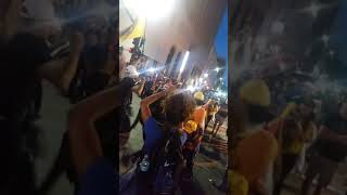 Warriors fans partying in downtown Oakland