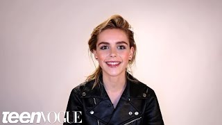Kiernan Shipka Talks Mad Men, Eyeliner, and Her Famous Brows in Her Teen Vogue Video Debut