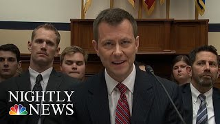 FBI Fires Agent Peter Strzok, Who Sent Anti-Trump Texts | NBC Nightly News