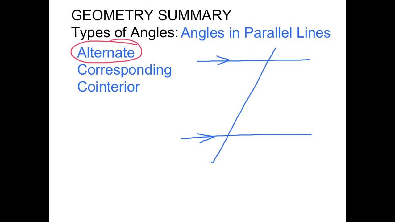 Angle types summary geometry definitions youtube - Definition of alternate exterior angles ...