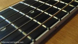 Mellow melodic pop/rock backing track