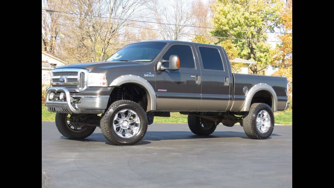 Lifted Ford F250 >> 2005 Ford F-250 Lifted Powerstroke Diesel LIFTED BADASS ...