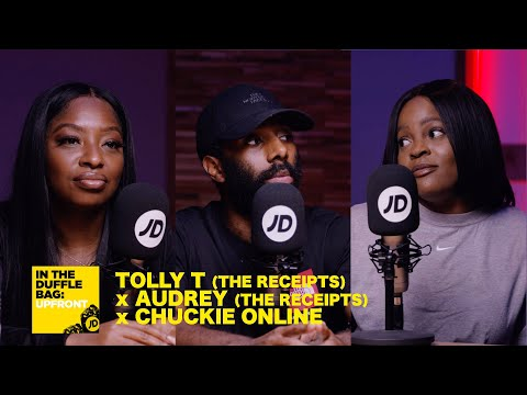 jdsports.co.uk & JD Sports Voucher Code video: TOLLY T (THE RECEIPTS) x AUDREY (THE RECEIPTS) x CHUCKIE ONLINE   JD IN THE DUFFLE BAG: UPFRONT