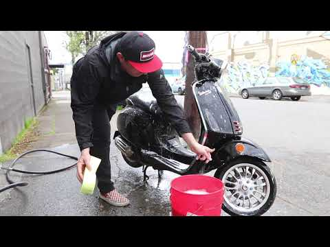 How to Wash a Vespa Scooter
